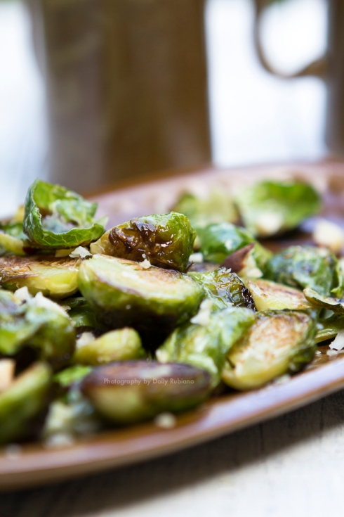 Roast brussels sprouts