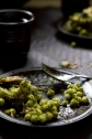 Lebanese couscous with mussels parsley pesto