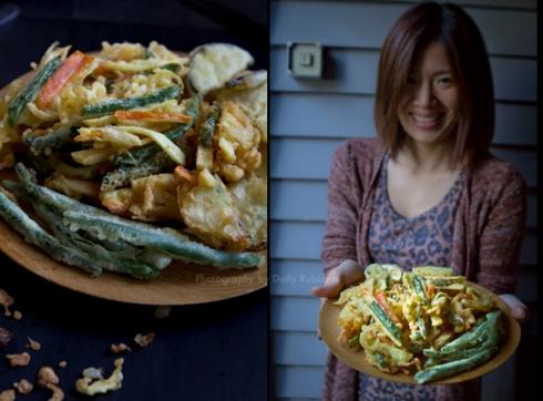 A proud Mari serving the perfect tempura.