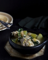 Chicken stew with kawakawa leaves