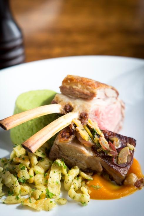 Chef Marc Soper's Minted pea custard