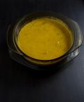Creamy squash soup, leeks and broccoli pie