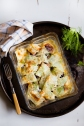 Fennel and mixed beans gratin