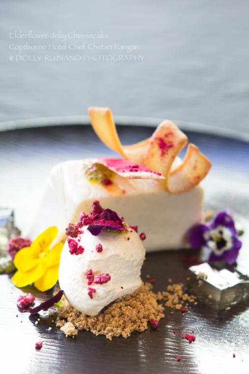 Elderflower Jelly Cheesecake by Copthorne Hotel Chef Chetan Pangan