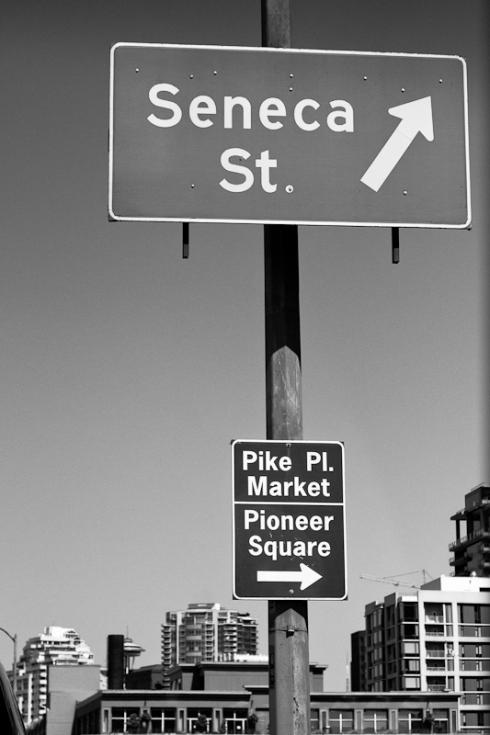 Seneca Street Sign, Pike Place
