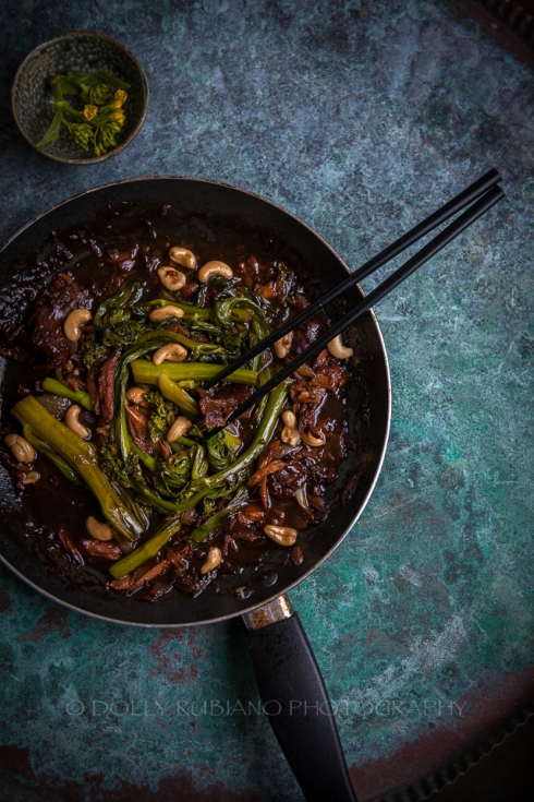 Stir-fried Chinese Spinach in Adobo sauce
