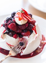 Pavlova with Berry Compote by Strawberry Fare Chef David Pearce