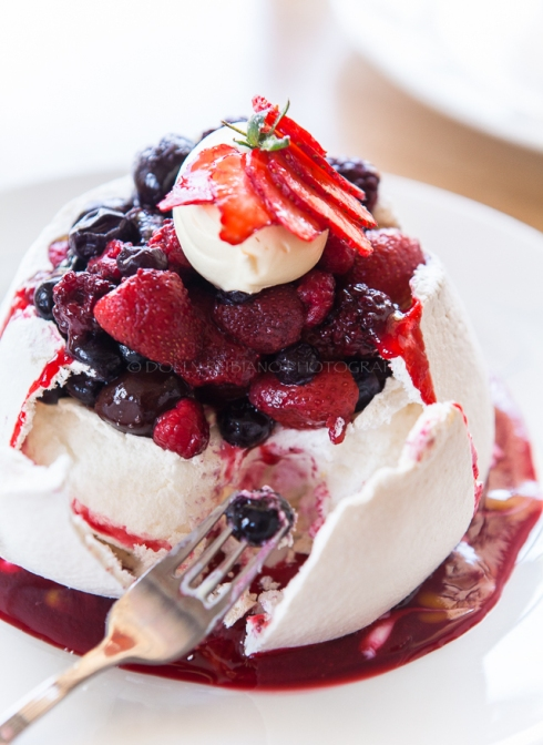 Pavlova with Berry Compote by Strawberry Fare Owner and Chef David Pearce
