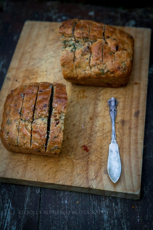 Easy orange ginger cider bread with kawakawa and basil