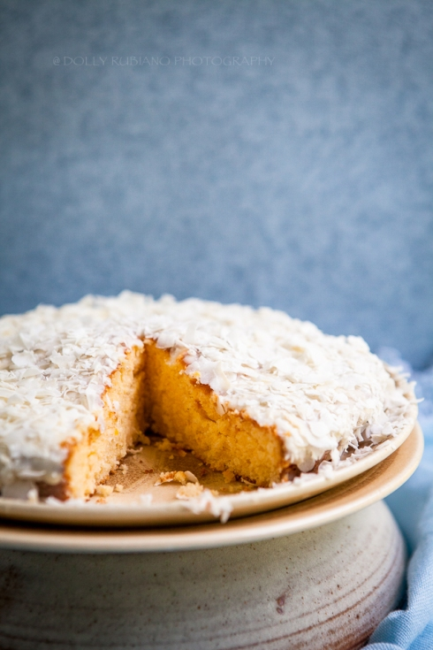 Lemon and coconut cake