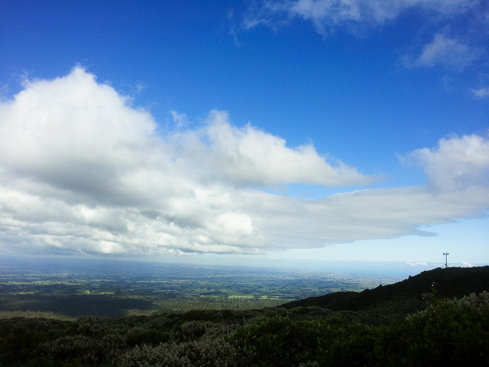 View from Stratford Plateau lookout, Mt. Taranaki